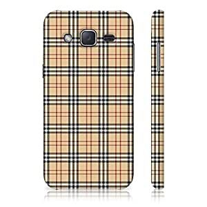 Samsung Galaxy J2 2015 Edition Plaid Pattern Printed Designer Mobile Phone Case Back Cover by Be Awara - Matte Finish
