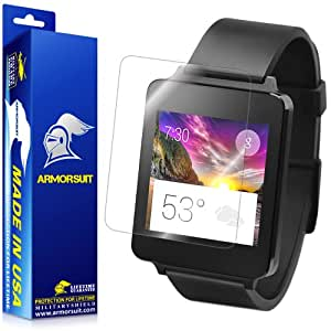 ArmorSuit MilitaryShield LG G Watch Screen Protector Anti Bubble and Extreme Clarity HD Shield