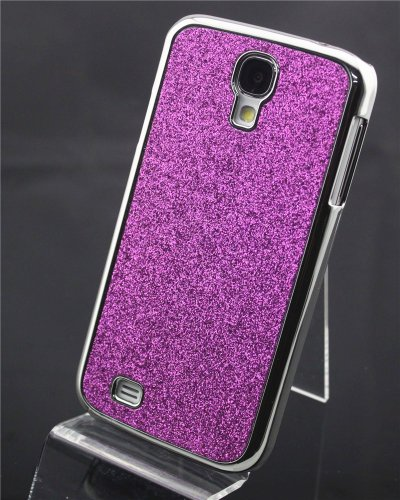 Big Dragonfly High Quality Purple Bling Glitter Shimmer Hard Back Case Skin Cover For Samsung Galaxy S4 Siv I9500 Exquisite Retail Package Durable & Pretty For Girls front-922828