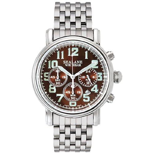 [シーレーン]SEALANE 腕時計 20BAR N夜光 SE48-MBR メンズ