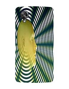 Bagsfull Designer Printed Matte Hard Back Cover Case For Google LG Nexus 5