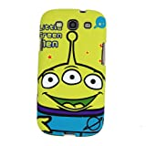 SilverCon - Green Disney 3 Eyes Story Alien Double Face Plastic Case Cover for Samsung Galaxy Siii S3 I9300 with FREE SilverCon Universal Cable Tie