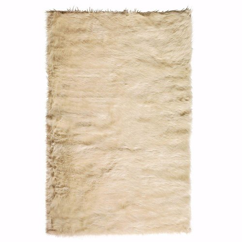 Faux Sheepskin Area Rug, 8'X11', Beige (Rugs Target compare prices)