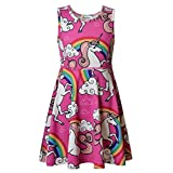 JxstarGGirls Sundresses Rainbow Dress Unicorn Party Supplies Girls Party Dress Unicorn 130