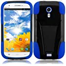 For BLU Studio 5.0 BLU Dash 5.0 Cover Case (T-Stand Black/Dark Blue)