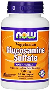 Now Foods Veg Glucosamine Sulfate Veg Capsules, 750 mg, 90 Count