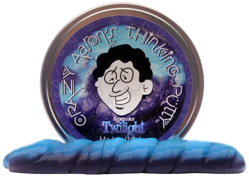 Crazy Aaron's Thinking Putty Heat Sensitive Hypercolor, Twilight, 3.2 oz