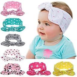 Itaar Baby Girl Turban Headband Head Wrap Dot Hair Band
