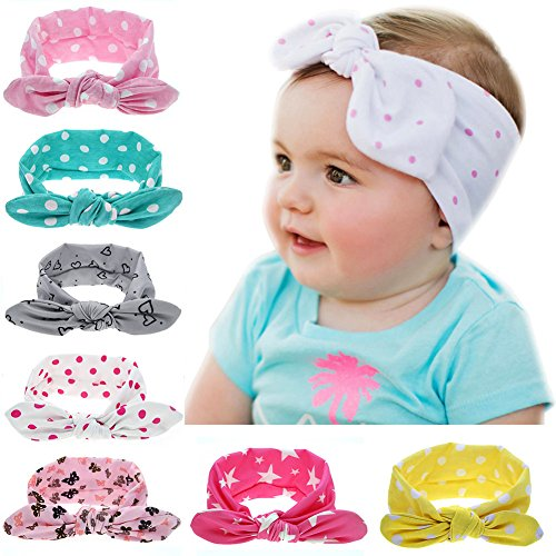 Itaar Baby Girl Turban Headband Head Wrap Dot Hair Band