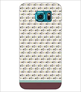 PrintDhaba Owl Pattern D-1683 Back Case Cover for SAMSUNG GALAXY S6 EDGE (Multi-Coloured)