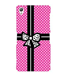 Gift Wrapper Pink Dots Cute Fashion 3D Hard Polycarbonate Designer Back Case Cover for Sony Xperia Z3 Compact :: Sony Xperia Z3 Mini :: Sony Xperia Z3 D5803, D5833