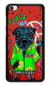 """Humor Gang Peace Says The Pug Printed Designer Mobile Back Cover For """"Huawei Honor 6"""" (3D, Glossy, Premium Quality Snap On Case)"""