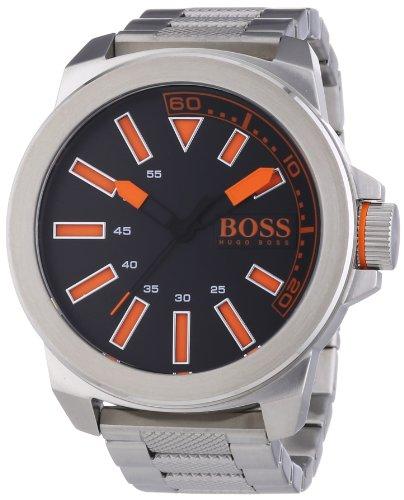 Hugo Boss  New York - Reloj de cuarzo para hombre, con correa de nailon, color plateado