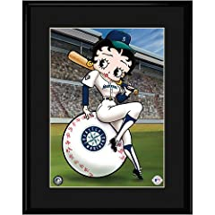 Seattle Mariners MLB Betty On Deck Collectible by Toon Art