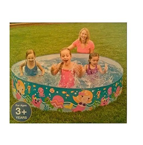 EXCLUSIVE Plastic Snapset 6ft Kiddie Swimming Pool with LIMITED EDITION Mermaid Coral Reef Design. by Intex kaufen