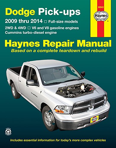 Dodge Pick-ups 2009 thru 2014 Full-size models: 2WD & 4WD - V6 and V8 gasoline engines - Cummins turbo-diesel engine (Haynes Repair Manual) (Cummins Turbo Diesel Engine compare prices)