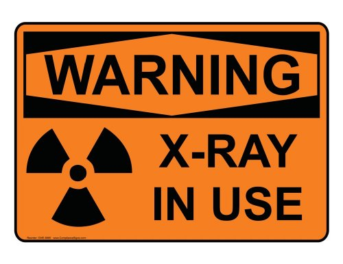 Compliancesigns Vinyl Osha Warning Label, 10 X 7 In. With Mri / X-Ray / Microwave Info In English, Orange