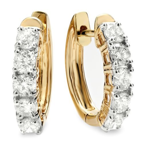 100-Carat-ctw-14K-Yellow-Gold-Ladies-Huggies-Hoop-Earrings-1-CT