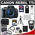 Canon EOS Rebel T5i Digital SLR Camera & EF-S 18-135mm IS STM Lens with 64GB Card + Battery + Case + Flash + 3 UV/FLD/CPL Filters + Tripod + Accessory Kit