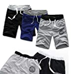 Aokdis Men Cotton Shorts Pants Gym Sp...