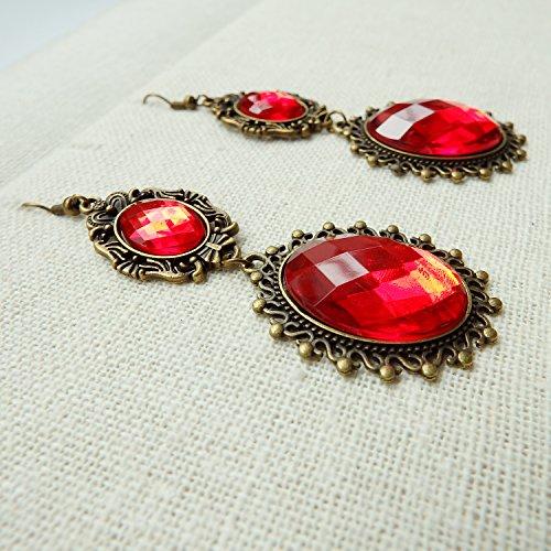 Rarelove lolita red rhinestone teardrop chandelier dangle earrings rarelove lolita red rhinestone teardrop chandelier dangle earrings aloadofball Image collections