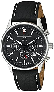 Jorg Gray Men's Quartz Watch JG6500 Commemorative Edition with Italian Buffalo Grain Leather Strap