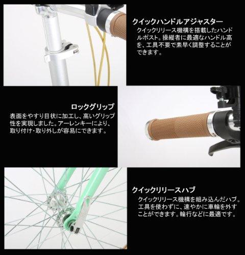 Raychell+(レイチェルプラス) 20インチアルミ製シマノ7段変速電動アシスト折りたたみ自転車[リチウムイオンバッテリー使用・コイルワイヤー錠/前後シリコンLEDライト標準装備] ライトグリーン R+512EA MINTA