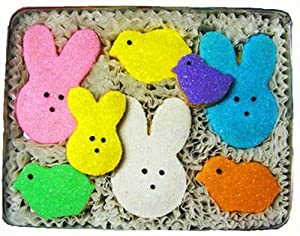 Marshmallow Bunnies and Chicks Decorated Sugar Cookies Gift
