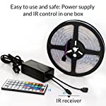 LightPlus 16.4 ft (5m) RGB LED Strip - Flexible LED Light Kit - LED Strip Lighting is Easy to Install & Use, Certified Waterproof & Completely Safe - Powerful, Bright, and Long Lasting Lights by LightPlus
