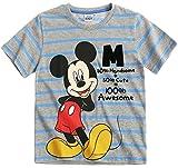 Mickey Mouse - Camiseta de manga corta - para niño gris gris