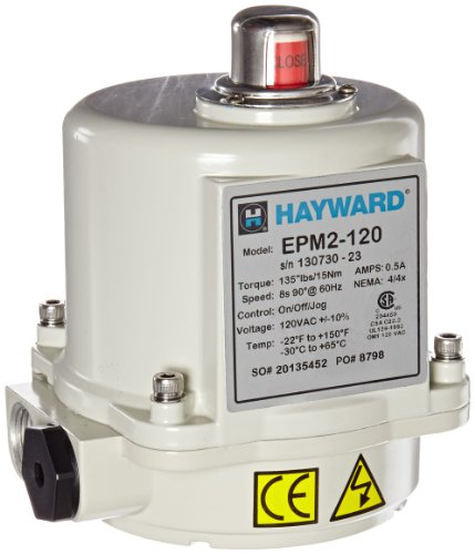 Hayward Electric Actuator 150 Lbs., Nema 4/4X, Overload Protection, 120V