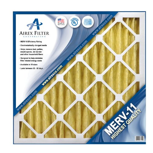 16x20x2 Pleated Air Filter MERV 11 - Highest Quality - 3 Pack - Actual Size: 15 ½ X 19 ½ X 1 ¾