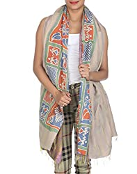 Rajrang Ethnic Wear Art Silk Shawl Vintage Kantha Work Stole