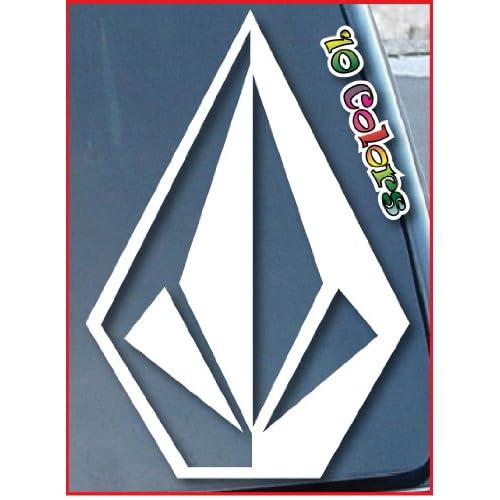 "Amazon.com: Volcom Stone Car Window Vinyl Decal Sticker 8"" Tall (Color"