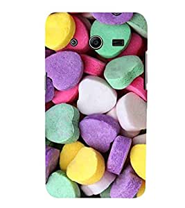 EPICCASE Heart Candy Mobile Back Case Cover For Samsung Galaxy Core 2 (Designer Case)
