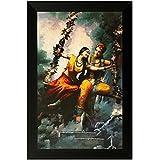 SAF Special Effect Textured Radhey Krishna Ji Painting (SANFO128, 30 Cm X 3 Cm X 45 Cm)