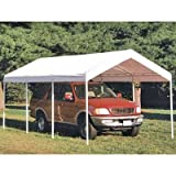 ShelterLogic 10 x 20-Feet Canopy 2- Inch 4-Rib Frame, White Cover