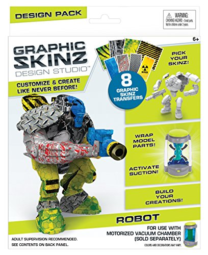 RoseArt Graphic Skinz Design Set (3-Piece), Robot Toy