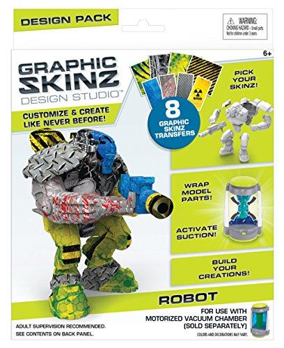 RoseArt Graphic Skinz Design Set (3-Piece), Robot Toy
