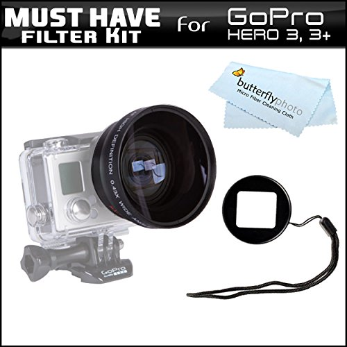 Must Have Telephoto Lens Kit For Gopro Hero 3, Hero3+ Includes Professional 52Mm High Definition Pro 2.2X Telephoto Lens + Carry Pouch Gopro Lens Adapter + More