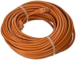 Professional Cable Category 5E Ethernet Network Patch Cable with Molded Snagless Boot, 75-Feet, Orange (CAT5OR...
