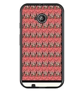 PrintDhaba Pattern D-1553 Back Case Cover for MOTOROLA MOTO E2 (Multi-Coloured)