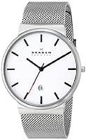 Skagen Men's SKW6052 Ancher Quartz 3 Hand Date Stainless Steel Silver Watch by Skagen