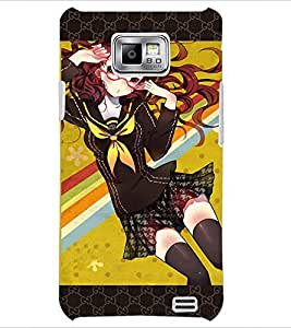 PrintDhaba Specy Girl D-3038 Back Case Cover for SAMSUNG GALAXY S2 (Multi-Coloured)