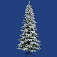 9' x 49 Flocked Utica Fir Christmas Tree 600 Multi-color-6 color Lights 1455T