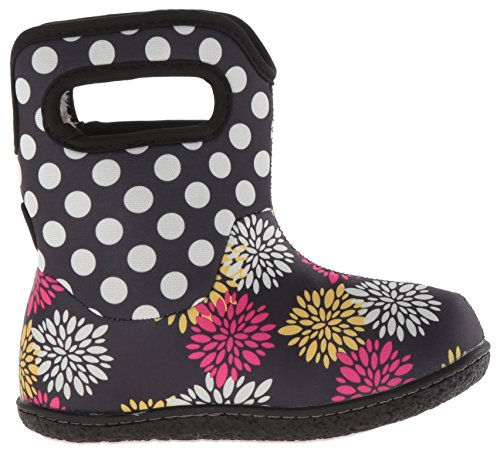 Bogs Baby Classic Pompon Dot Winter Snow Boot (Toddler), Black/Multi, 4 M US Toddler
