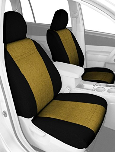 CalTrend Front Captain Chairs Custom Fit Seat Cover for Select Hummer H2 Models - Tweed (Yellow/Black) (Hummer H2 Caltrend compare prices)