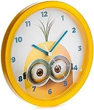 Minions Wanduhr Tim (Goggles) - gelb, aus Kunststoff.