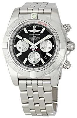 Breitling Men's AB011011/B967 Chronomat B01 Black Chronograph Dial Watch