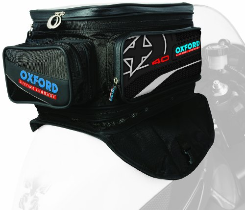 Oxford OL135 X40 Black Magnetic Motorcycle Tank Bag
